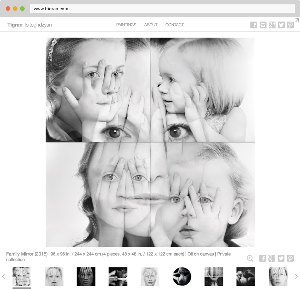 Tigran Tsitoghdzyan Website Screenshot