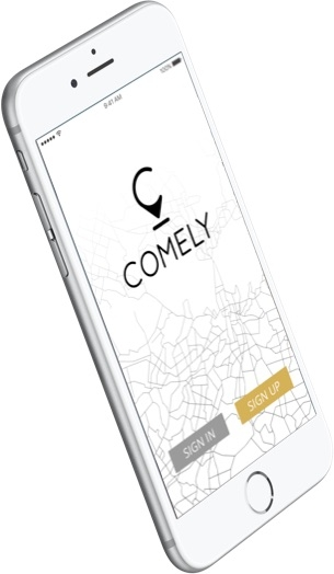 Comely - iOS Home Page Screen
