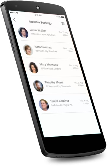 Comely - Android Customers Screen