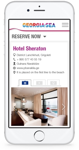 Georgia Sea - Mobile Hotel Room Page