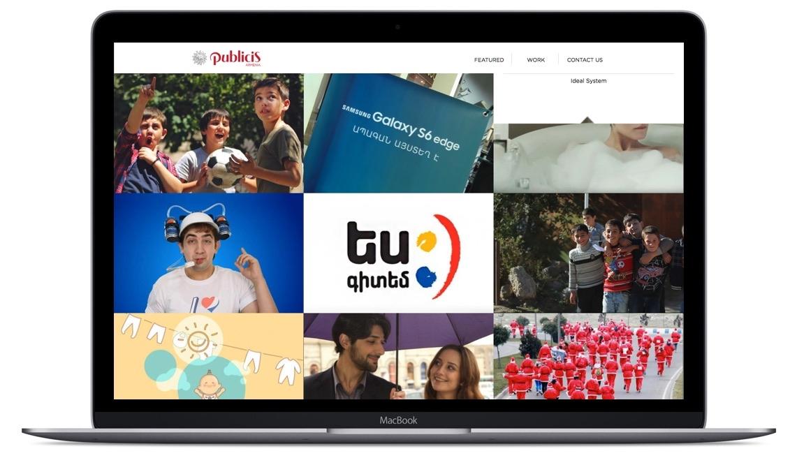 Publicis - MacBook View