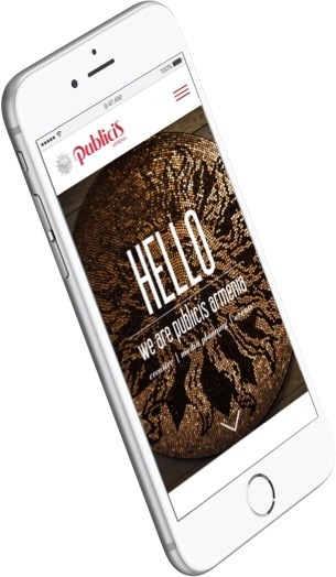Publicis - Mobile Home Screen